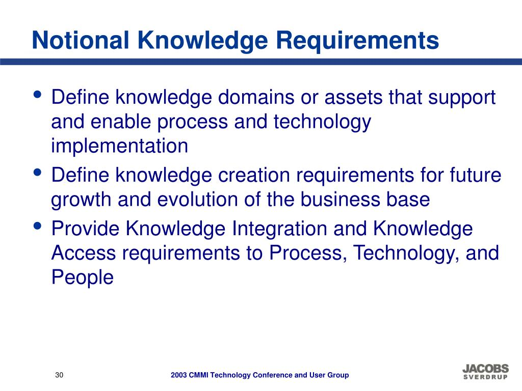 Notional Knowledge Requirements