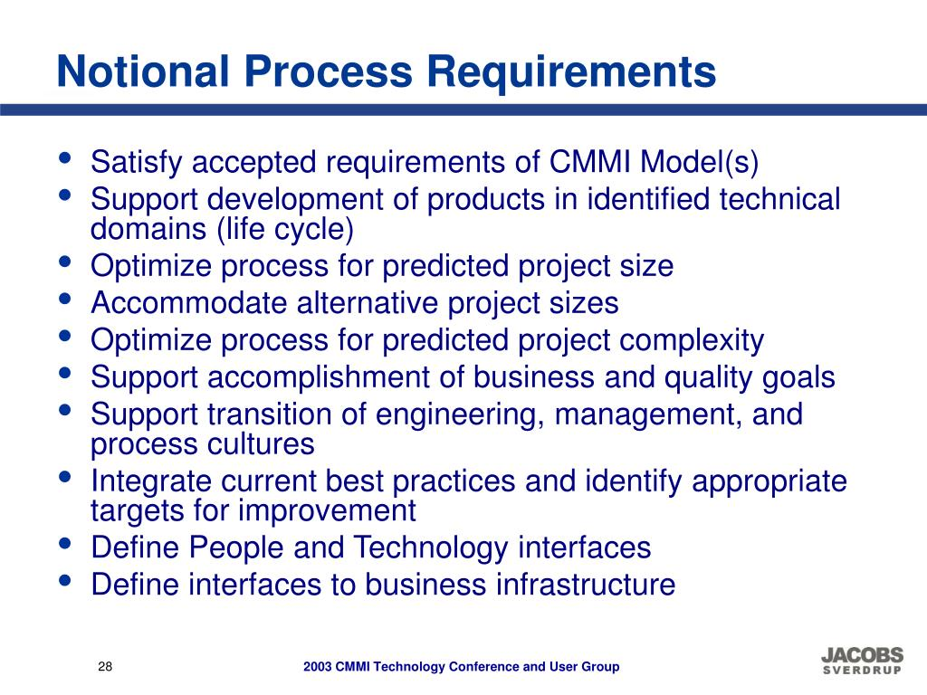 Notional Process Requirements