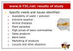 www e tic net results of study