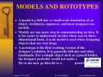 models and rototypes