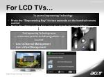 for lcd tvs