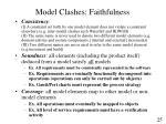 model clashes faithfulness