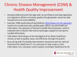 chronic disease management cdm health quality improvement