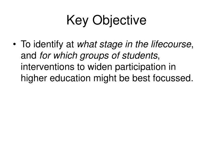 Key objective
