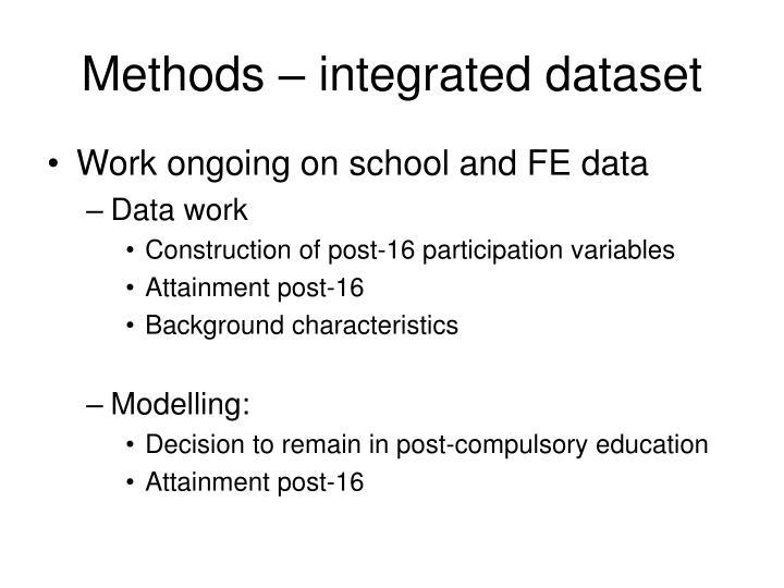 Methods – integrated dataset