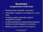 summary assignments exercises