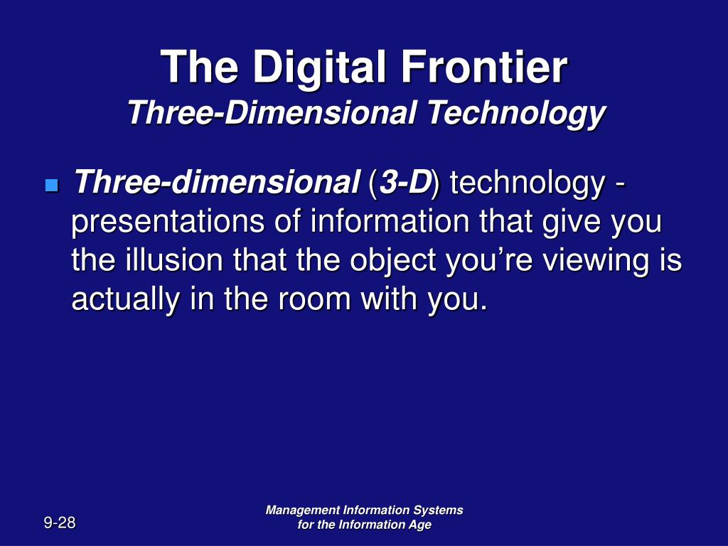three dimensions of information system