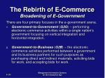 the rebirth of e commerce broadening of e government