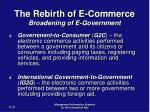 the rebirth of e commerce broadening of e government31