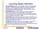 learning styles definition