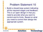 problem statement 10