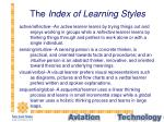 the index of learning styles