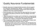 quality assurance fundamentals