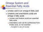 omega system and essential fatty acids