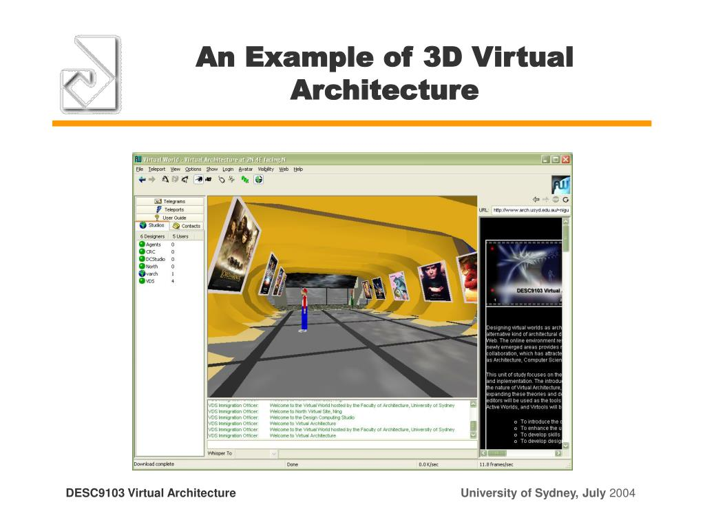 An Example of 3D Virtual Architecture
