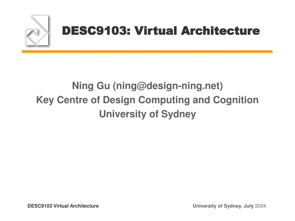 desc9103 virtual architecture l.