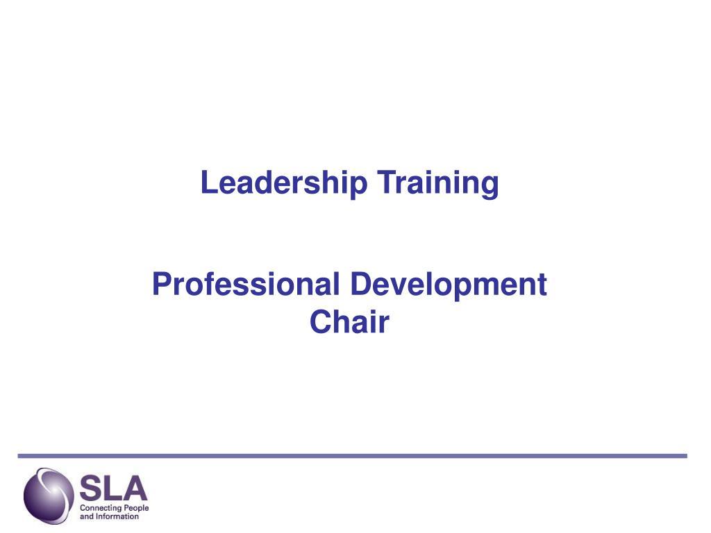 leadership training l.