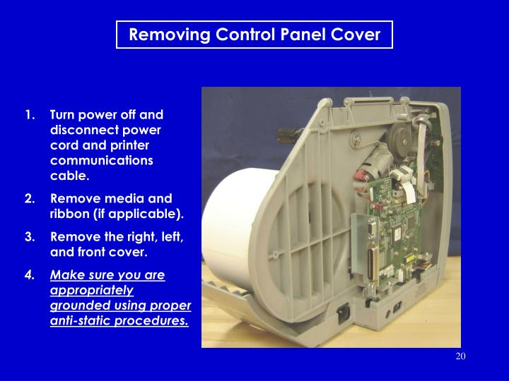 Removing Control Panel Cover