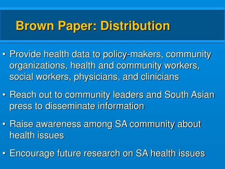 Brown Paper: Distribution