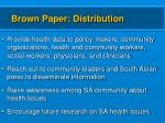 brown paper distribution