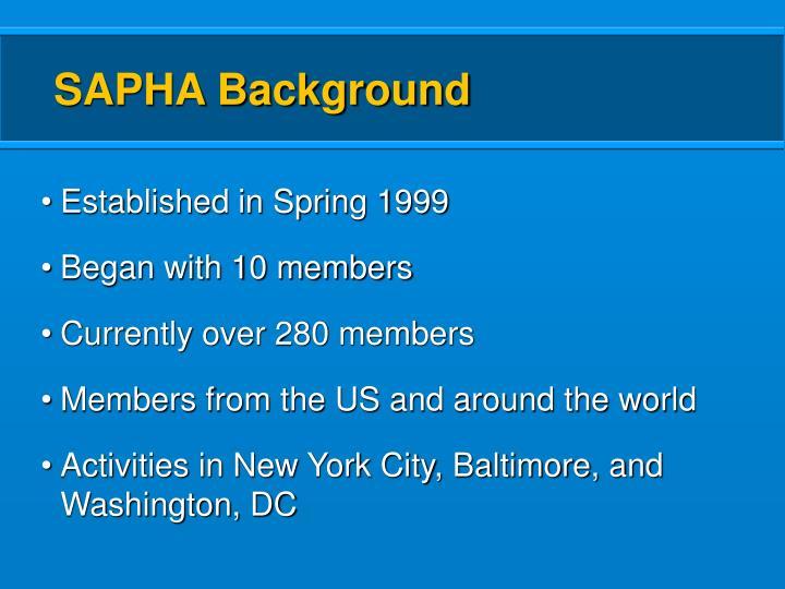SAPHA Background