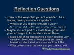 reflection questions16