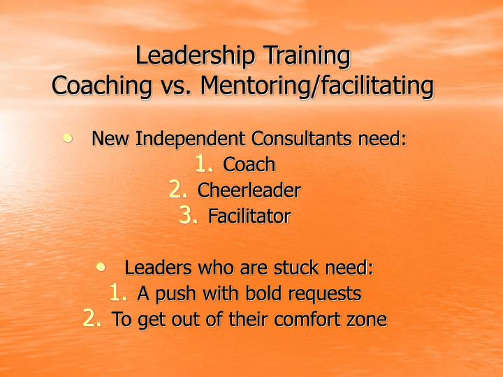 Leadership training coaching vs mentoring facilitating3