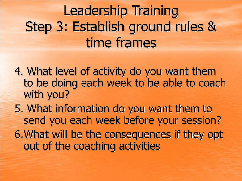 how to establish ground rules with