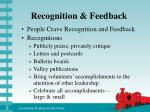 recognition feedback