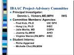 ibaac project advisory committee