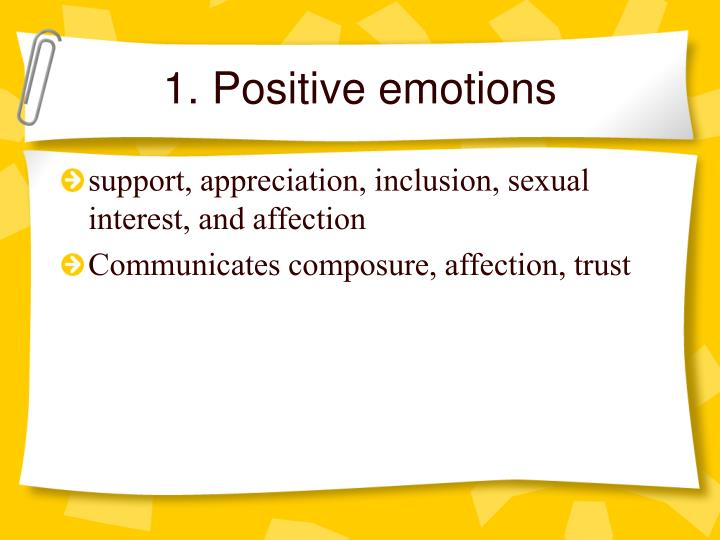 1. Positive emotions