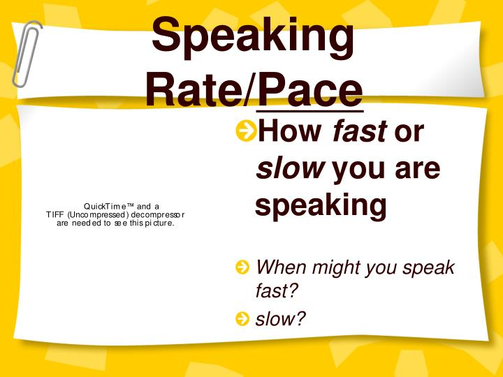 Speaking rate pace