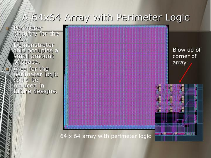 A 64x64 Array with Perimeter Logic