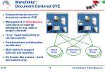 manufaktur document centered cve
