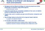 studies of architects and designers work environments