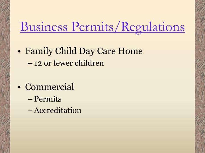 Business Permits/Regulations