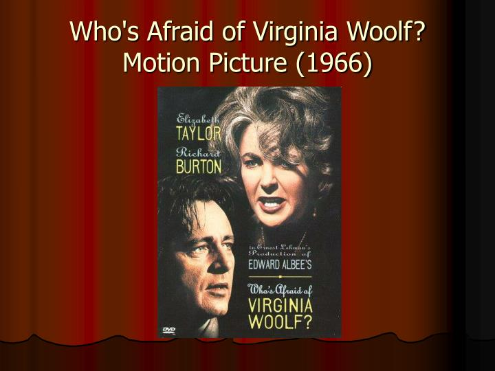 edward albee virginia woolf Free essay: who's afraid of virginia woolf by edward albee how a couple denies reality by escaping into a world of fantasy.
