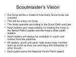 scoutmaster s vision