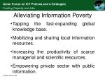 alleviating information poverty