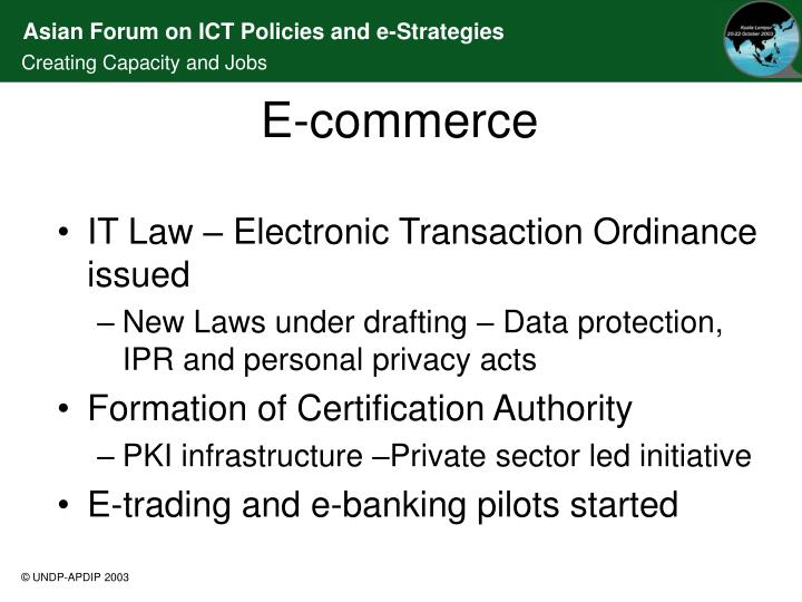IT Law – Electronic Transaction Ordinance issued
