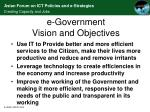 e government vision and objectives