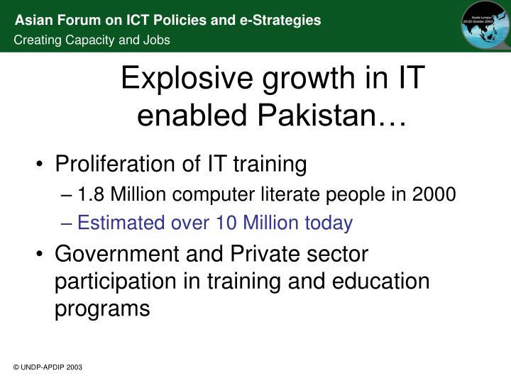 Proliferation of IT training