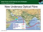 new undersea optical fibre