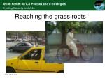 reaching the grass roots