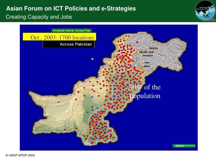 Oct , 2003: 1700 locations