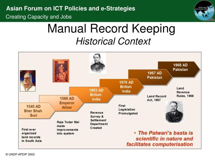 Manual Record Keeping