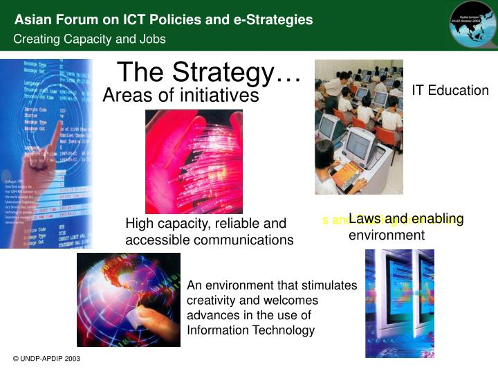 An environment that stimulates creativity and welcomes advances in the use of Information Technology