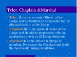 tyler chaplain marshal