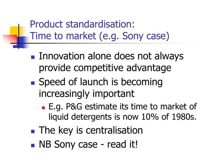 product standardisation