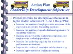 action plan leadership development objectives
